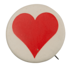 Single Red Heart I ♥ Buttons Busy Beaver Button Museum