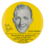 Bing Crosby Decca Records Innovative Button Museum