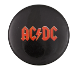AC DC Red and Black Music Button Museum