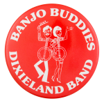 Banjo Buddies Dixieland Band Music Button Museum