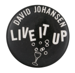 David Johansen Live It Up Music Button Museum