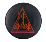 Def Leppard Red and Black Music Button Museum