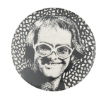 Elton John Illustration Music Button Museum