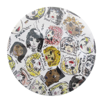 Female Performers Illustration Music Button Museum
