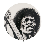 Jimi Hendrix with Guitar Music Button Museum
