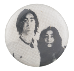 John And Yoko Photograph Music Button Museum