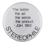 Stereophile Music Button Museum