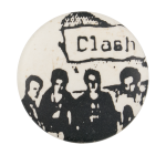 The Clash Black and White Music Button Museum