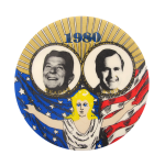 1980 Reagan Bush Political Button Museum