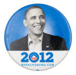 2012 Barack Obama Political Button Museum