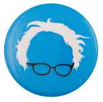 Bernie Glasses Blue Political Busy Beaver Button Museum