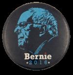 Bernie Silhouette 2016 Political Busy Beaver Button Museum