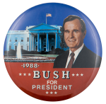 Bush for President White House Political Busy Beaver Button Museum