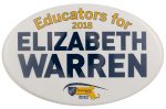 Educators for Elizabeth Warren Political Busy Beaver Button Museum