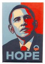 Hope Obama Fairey Political Busy Beaver Button Museum