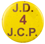 J.D. 4 J.C.P. Political Busy Beaver Button Museum