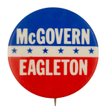 McGovern Eagleton Political Busy Beaver Button Museum