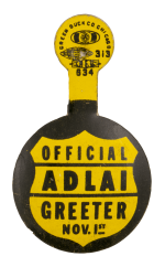 Official Adlai Greeter Political Busy Beaver Button Museum