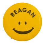 Reagan Smiley Political Busy Beaver Button Museum