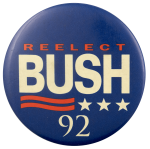 Reelect Bush Political Busy Beaver Button Museum