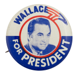 Wallace for President Photo Political Busy Beaver Button Museum