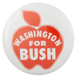 Washington for Bush Political Busy Beaver Button Museum