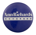 Ann Richards Governor Political Busy Beaver Button Museum