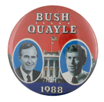 Bush Quayle 1988 Political Busy Beaver Button Museum