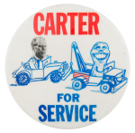 Carter for Service Political Button Museum