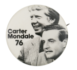 Carter Mondale 76 Portraits Political Button Museum