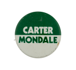 Carter Mondale Political Busy Beaver Button Museum