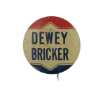 Dewey Bricker Political Busy Beaver Button Museum