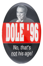 Dole '96 Political Button Museum