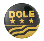 Dole Gold Stars Political Button Museum