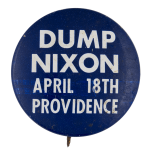 Dump Nixon Political Busy Beaver Button Museum