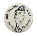Dump Reagan 84 Political Button Museum
