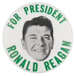 For President Ronald Reagan Political Button Museum