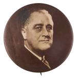 Franklin D Roosevelt Black and White Portrait 2 Political Button Museum