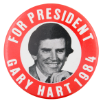 Gary Hart for President Political Button Museum