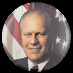 Gerald Ford Color Portrait Political Button Museum