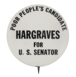 Hargraves for U. S. Senator Political Button Museum