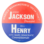 Harold Washington Dream Ticket Political Button Museum