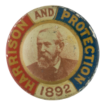 Harrison and Protection Political Button Museum