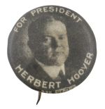 Herbert Hoover For President Political Button Museum