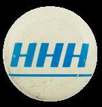 HHH Blue Political Busy Beaver Button Museum