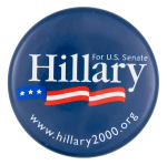 Hillary for U.S. Senate Political Button Museum