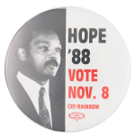 Hope '88 Vote Political Button Museum
