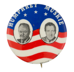 Humphrey Muskie Flag Political Button Museum