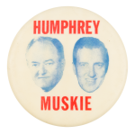 Humphrey Muskie Heads Political Button Museum