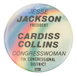Jackson Cardiss Collins Political Button Museum